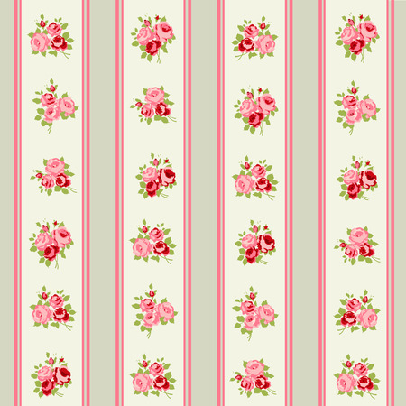 Shabby Chic Rose Patterns and seamless backgrounds Reklamní fotografie - 28415216