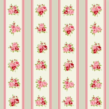 seamless: Shabby Chic Rose vzory a bezproblémové prostředí