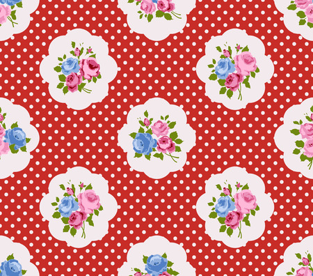 shabby chic: Shabby Chic Rose Patterns and seamless backgrounds
