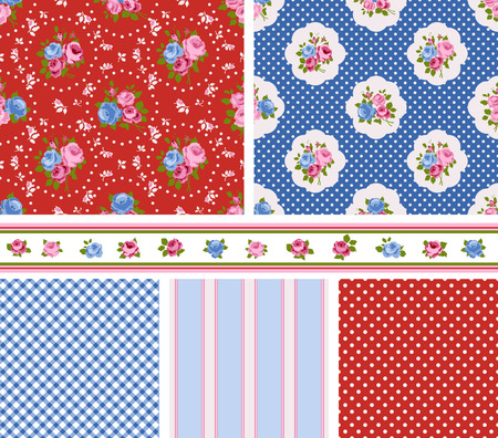 english rose: Shabby Chic Rose Patterns and seamless backgrounds