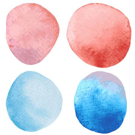 wet paint: Beautiful watercolor design elements. Vector illustration