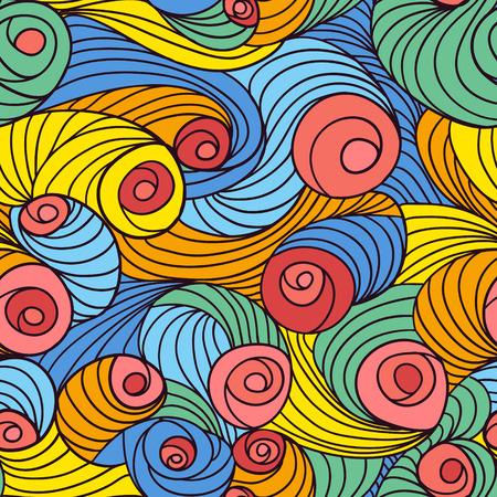 sheepskin: Swirl seamless pattern. Abstract geometric tiled background.