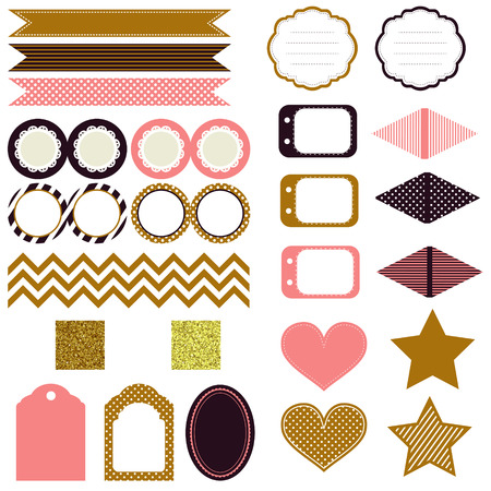 topper: Celebration Birthday Party supplies collection, Golden glitter Party Ideas, include golden glitter pattern