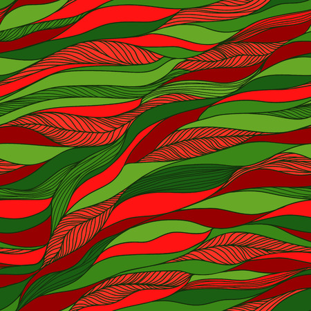 handdrawn: Vector abstract hand-drawn doodles texture, abstract waves background.