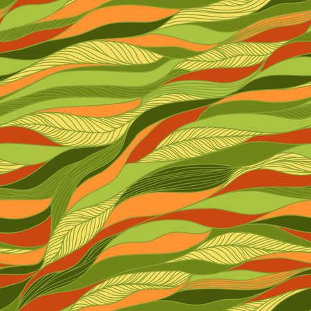 waves abstract: Vector abstract hand-drawn doodles texture, abstract waves background.