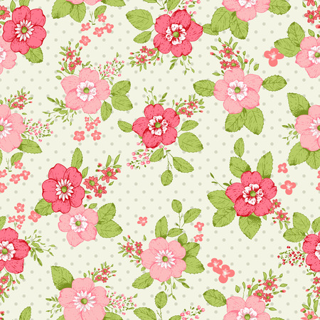 old frame: Roses seamless pattern, classic floral background