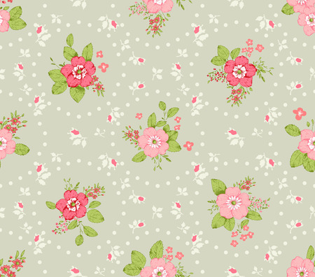 romanticist: Roses seamless pattern, classic floral background