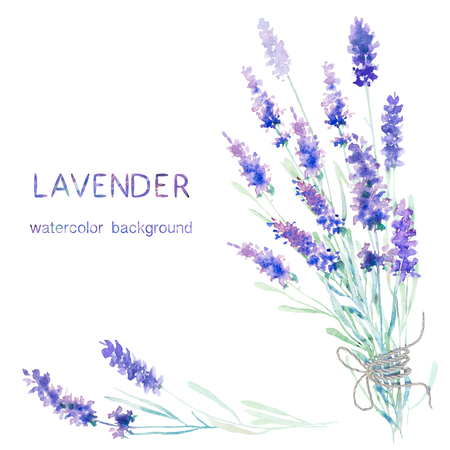 Watercolor lavender background. Card, greeting cards, invitations, and other printing projects template. Watercolor illustration.