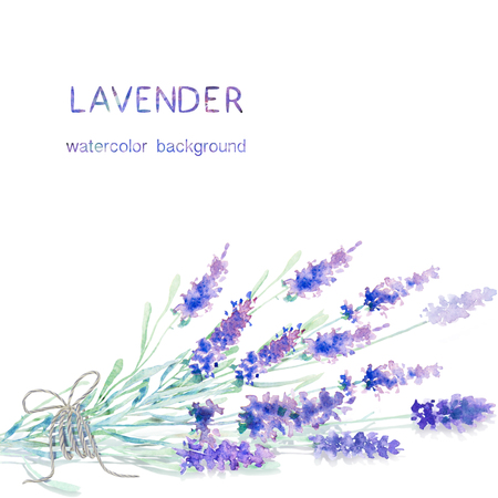 Watercolor lavender background. Card, greeting cards, invitations, and other printing projects template. Watercolor illustration. Stock fotó - 51500789