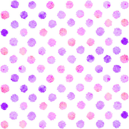 pastel like: Watercolor abstract dots geometric pattern and seamless background. Ideal for printing onto fabric and paper or scrap booking. Hand painted. Raster illustration. Fast isolation. Stock Photo