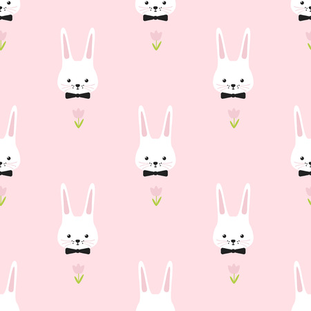 bunny: Easter pattern. Bunny. Simple funny seamless.