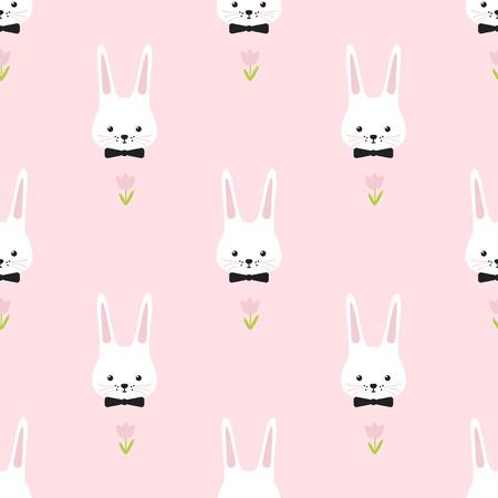 modello di Pasqua. Bunny. Semplice senza soluzione di continuità divertente.