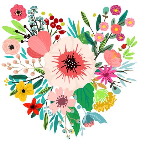 Ontwerp met hand getrokken kruiden en bloemen