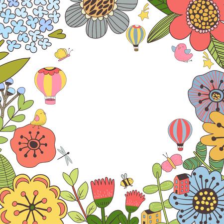 Decorative botanical design Ilustracja