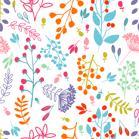 Vector seamless pattern, doodling design.