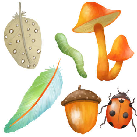 Nature element icon, clipping path included, illustration Zdjęcie Seryjne