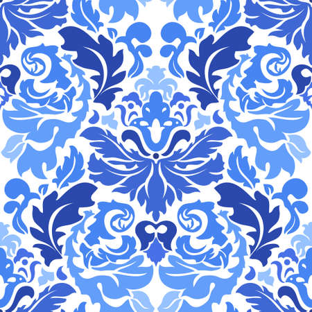 Seamless floral pattern; retro background Ilustrace
