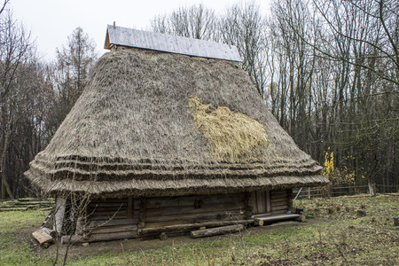 impoverished: Building in the park Shevchenko, Lviv, Ukraine