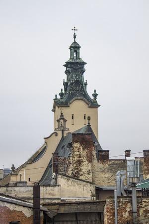 polska monument: Nice view of the city of Lviv, Ukraine