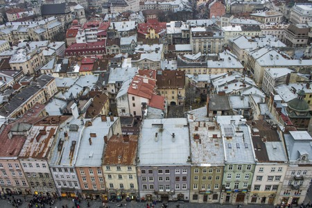 case colorate: Colorful houses in the city center