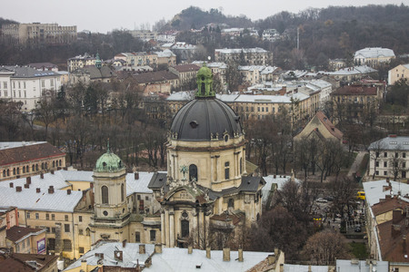 old town guildhall: Nice view of the city Lviv, Ukraine