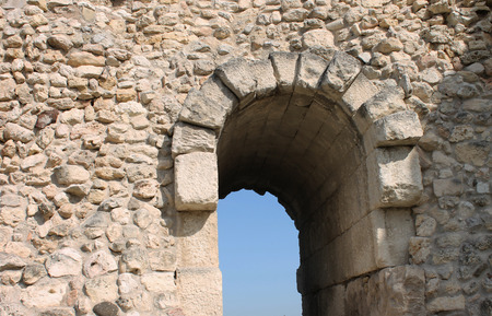 mid distance: Ancient arch in the Greek style, the old town, Crimea