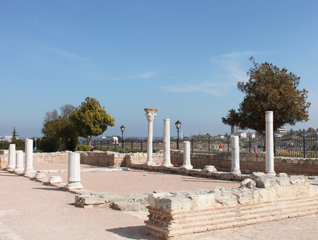 vanished: Columns of the old town and a vanished civilization, Crimea, Hersoness Stock Photo