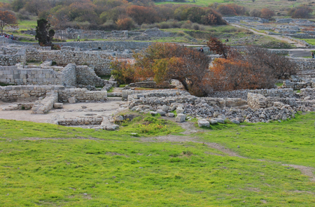 Ruins of the ancient city and ancient civilization in Chersonesos, Crimea