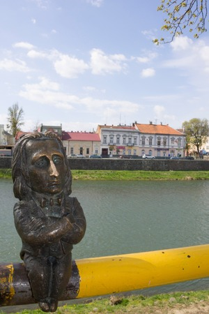 liszt: Funny sculpture in the city of Uzhgorod, Ukraine