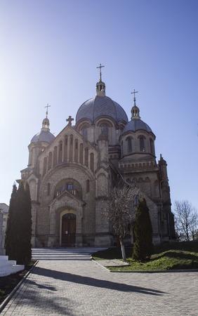 george: Orthodox church in the spring. Western Ukraine. Europe. Spring 2015