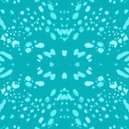 Watercolour Cheetah Skin. Graphic Cats Fur. Camouflage African Wallpaper. Seamless Textile Design. Blue Spots Texture. Watercolour Jaguar Skin. Abstract Wild Fur. Watercolor Cheetah Skin.