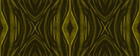 Seamless Safari Background. Fashion African Texture. Gold Animal Fur Design. Watercolour Lines. Jungle Fabric. Safari Ornament. Animal Skin Design. Watercolor Lines. Luxury Safari Wallpaper.