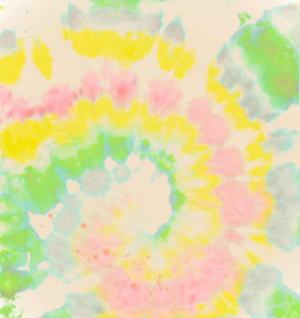 Psychedelic Dyed Background. Pastel Spiral Tie-dye. Hippie Swirl Patterns. Artistic Fabric. Tye Die Circle Painting. Circular Light Paint. Color Design. Batik Style. Art Spiral Tie-dye. Imagens