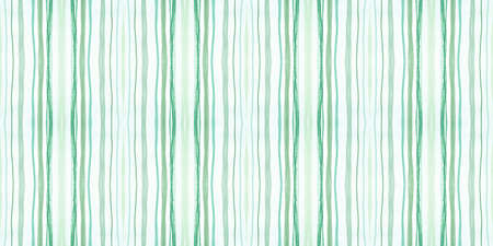 Seamless Fashion Stripes. Retro Lines Background. Geometric Grunge Pattern. Green and White Graphic Stripes. Vintage Handmade Repeat. Water Stroke Background. Abstract Stripes. Lines Wallpaper.