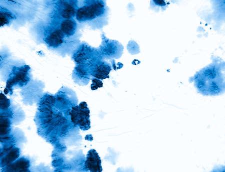 Indigo Tie Dye. Artistic Cool Background. Hippie Spiral Backdrop. White Tie Die Style. Art Pattern. Abstract Color Shirt. Ink Swirl Design. Circle Painting. Batik Indigo Tie Dye.