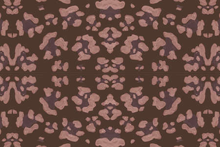 Seamless Leopard Repeat. Brown Giraffe Skin Pattern. Watercolour Spotted Safari Background. Abstract Fabric Design. Brown Leopard Artwork. Spotted Tropical Ornament. Seamless Leopard Imitation.