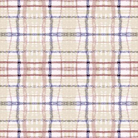Plaid Pattern. Pale Picnic Texture. Irish Buffalo Kilt. Seamless Vintage Blanket. Geometric Plaid Pattern. Retro Stripes Background. Checkered Print. Check Tweed. Neutral Plaid Pattern.