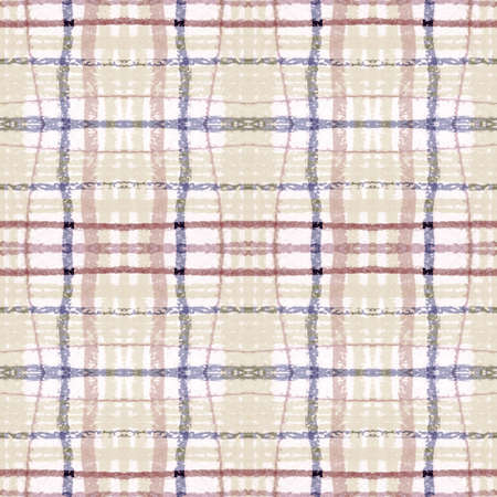 Plaid Pattern. Pale Picnic Texture. Irish Buffalo Kilt. Seamless Vintage Blanket. Geometric Plaid Pattern. Retro Stripes Background. Checkered Print. Check Tweed. Neutral Plaid Pattern.