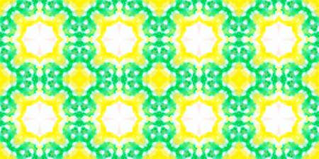 Watercolor Portuguese Tile. Aquarelle Geometric Wallpaper. Handdrawn Swimwear Design. Multi Colorful Background. Ornamental Ethnic Print. Seamless Portuguese Tile Pattern. Banque d'images