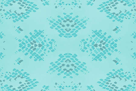 Seamless Camouflage Snake Design. Serpent or Phyton Wild Surface. Fashion Exotic Wallpaper. Blue and White Colors. Artistic Grunge Snake. Camouflage Snake Watercolor Design.