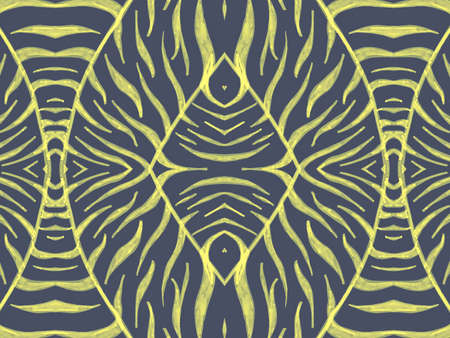 Seamless Zebra Fur Texture. Watercolor Cheetah Pattern. Grey Abstract Wild Ornament. Safari Stripes Fabric. Animal Skin Texture. Watercolour Cheetah Print. Blue Seamless Zebra Skin Texture.