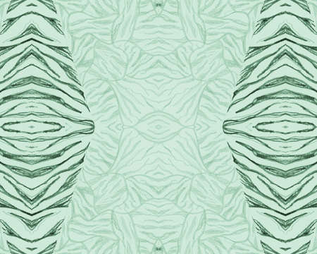 Green Seamless Zebra Pattern. Abstract Africa Texture. Zoo Jungle Print. Watercolour Lines Repeat. Animal Pattern. Green Fashion Africa Texture. Seamless Zebra Pattern. Wild Tiger Print.