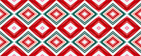 Seamless Aztec Print. Modern Ethnic Chevron. African Background with Painted Zigzags. Aztec Pattern. White Bohemian Native Design. Traditional Ethnic Ornament. Indian Design. Blue Aztec Print. Archivio Fotografico