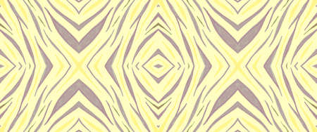Green Zebra Texture. Wave Stripes for Zoo Textile. Yellow Fashion Exotic Print. Seamless Tiger Banner. Seamless Abstract Exotic Pattern. Geometric Tribal Ornament. Фото со стока