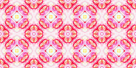Seamless Watercolor Peru Pattern. Fashion Abstract Ethnic Print. Folk Tie Dye Painted Texture. Multi Colorful Rapport. American, Mexican or Peru Pattern.