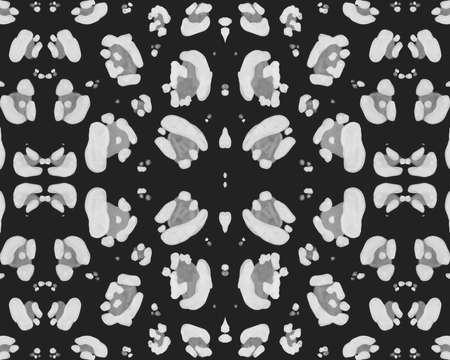 Seamless Leopard Texture. Fashion Cheetah Fur. Gray Watercolor Safari Wallpaper. Fabric Design with Wild Spots. Leopard Pattern. Monochrome Graphic Jaguar Print. Seamless Leopard Repeat.