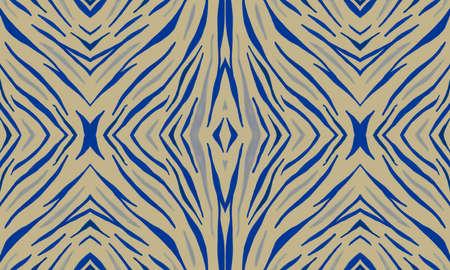 Purple Zebra Skin Pattern. Violet African Ornament. Seamless Abstract Tribal Banner. Seamless Watercolor Wave Lines. Tiger Skin Pattern. Seamless Safari Ornament. Yellow Animal Skin Print.