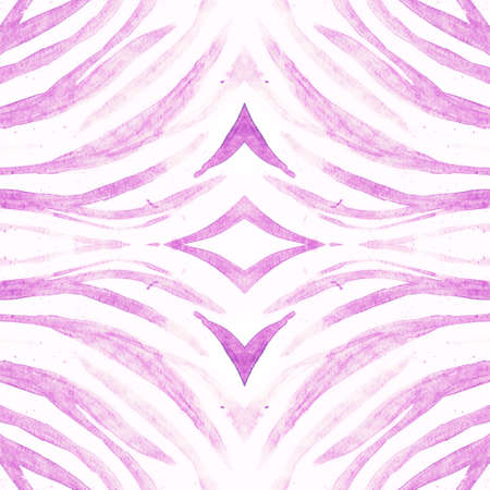 Seamless Animal Fur. Abstract Zoo Texture. Violet Watercolour Stripes. Seamless Wildlife Wallpaper. Zebra Print. Abstract Tiger Texture. Watercolor Stripes. Seamless Bright Safari Ornament.