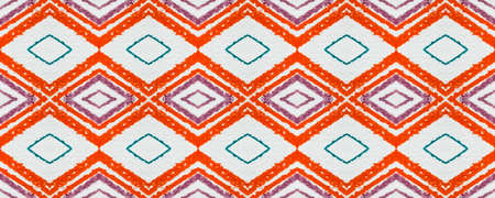 Seamless Aztec Pattern. Grunge Ikat Ornament. Tribal Background with Painted Zigzags. Aztec Print. White Geometric Mexican Design. Traditional Ethnic Texture. Indian Motif. Blue Aztec Print.