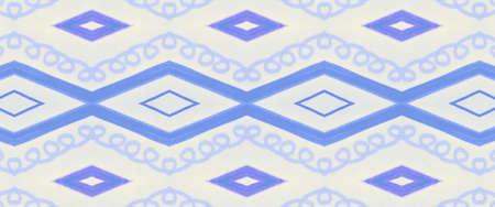 Ethnic Pattern. Blue Vintage Tribal Wallpaper. Boho Textile Print. Seamless Native Texture. Watercolour Ethnic Pattern. Geometric Zigzag Wallpaper. Native Border. White Ethnic Pattern.
